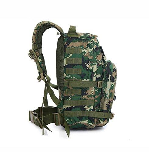 Outdoor Militär Angriff Rucksack Tarnung Wasserdicht Bergsteigen Tasche Junglecamouflage