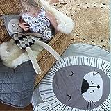 Baumwolle Krabbeldecke groß und weich gepolstert 90 x 90cm für Baby Kinder (Löwe) - 2