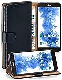 LG E975 Optimus G Hülle Schwarz mit Karten-Fach [OneFlow 360° Book Klapp-Hülle] Handytasche Kunst-Leder Handyhülle für LG Optimus G Case Flip Cover Schutzhülle Tasche