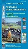 Thüringer Schiefergebirge: Rennsteig (Dreiherrenstein bis Schildwiese), Schwarzatal, Talsperre Hohenwarte (Topographische Karten Thüringen - Freizeit- und Wanderkarten 1:50000) -
