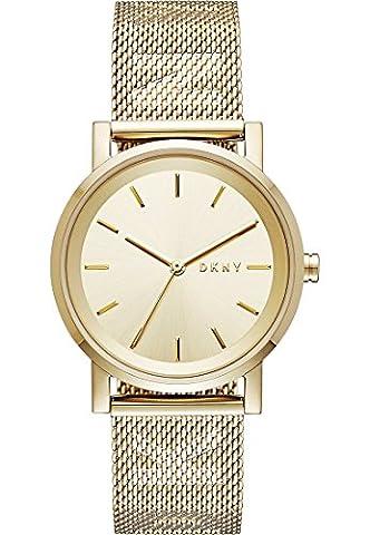 DKNY Damen-Armbanduhr Quarz One Size, gold, gold