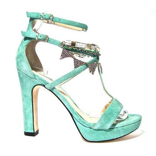 Twin-Set Sandalo Gioiello Aperto Verde 37