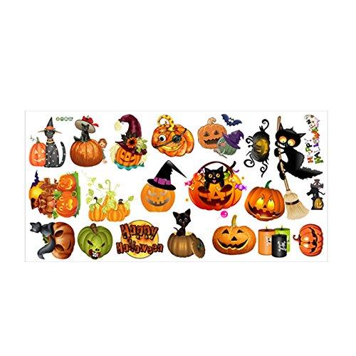 Kicode Schädel-Geist-Horror Party-Startseite Wohnzimmer Wand-Aufkleber-Kunst-Abziehbild Kürbis Halloween-Hexe Dekor (Yard Halloween Kunst)