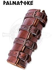Fácil Espada Soporte de piel soporte para cinturón para hacha de piel Holster Medieval Varios Modelos, marrón, talla única