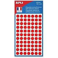 AGIPA Sachet de 462 étiquettes Gommettes de signalisation Rondes 8 mm Rouge