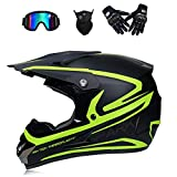 XBECO Straßenmotorrad-Helm Adult Motocross Helmet Scooter, Biker, Runway, Urban Tourism, ATV Bike Downhill Racing Helm,L