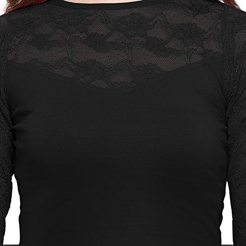 Janasya Cotton Saree Blouse Strapless (BL021-71BLACK_Free Size)