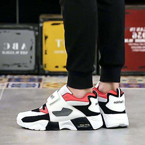 ZXCV Scarpe all'aperto Gli sport all'aria aperta degli uomini fanno scarpe da uomo spessa Rosso