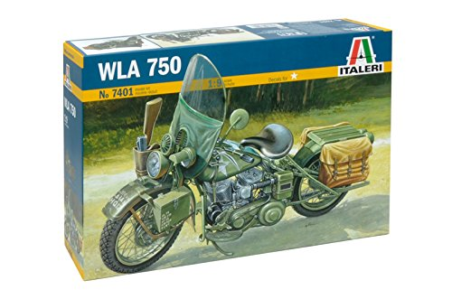 Italeri 7401 - u.s. army ww ii motorcycle model kit scala 1:9