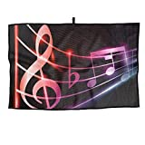 Notes Personalized Golf Towel Microfiber Sports Towel