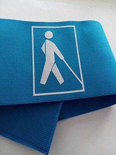 Armbinde Blau Mit EBU-Männchen Elastisch mit Klett Größe S - Blindenarmbinde - Kennzeichnung für Blinde
