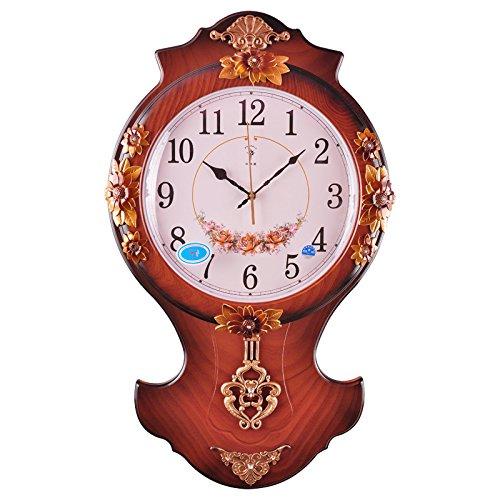 Pastorale creativo tranquillo salotto antico orologio da (Antico Brown Parete Specchio)