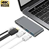 GIKERSY USB C Hub Adapter mit 3.1 Power Delivery, Dex Station,HDMI Port, 2 USB 3.0 Ports für MacBook Pro und Typ C Windows Laptops und für Galaxy Note 8 / S8 / S8 + Huawei Kamerad 10