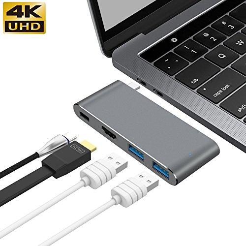 GIKERSY USB C Hub Adapter mit 3.1 Power Delivery, Dex Station,HDMI Port, 2 USB 3.0 Ports für MacBook Pro und Typ C Windows Laptops und für Galaxy Note 8 / S8 / S8 + Huawei Kamerad 10 Adapter Power Station