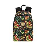 Floral Vector Seamless Pattern slawischen Stil Casual Daypack Reisetasche College School Rucksack für Herren und Frauen