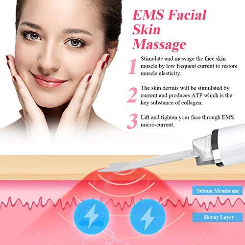 Dispositivo Ultrasónico de Limpieza de la Piel Facial,  ANLAN Skin Scrubber con Función de Importación de Esencias,  Función de Masaje Facial y limpiador de Poros para Limpieza Facial y Cuidado Facial