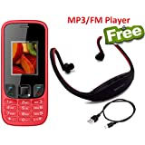 I KALL K29 Dual Sim 1.8 Inch Display Basic Feature Mobile Phone With MP3/FM Player Neckband Free- Red