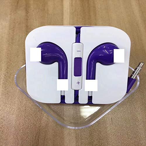 BedolioFarbkopfhörer mit Kabelsteuerung Candy Color für Smart mit Weizendraht-Headset, lila