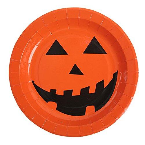 orange / schwarz, Durchmesser: 23 cm, 10 Stück ()