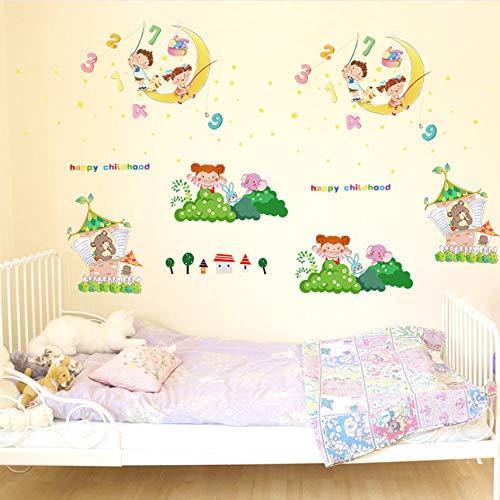 Zxdcd Gefälschte Fenster Außenborder Feuerwerk Wand Aufkleber Schlafzimmer Nachtwand WandaufkleberHintergrund Aufkleber