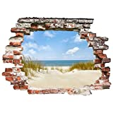Bilderwelten 3D Wandtattoo - Strand an der Nordsee - Quer 3:4, Größe: 75cm x 100cm