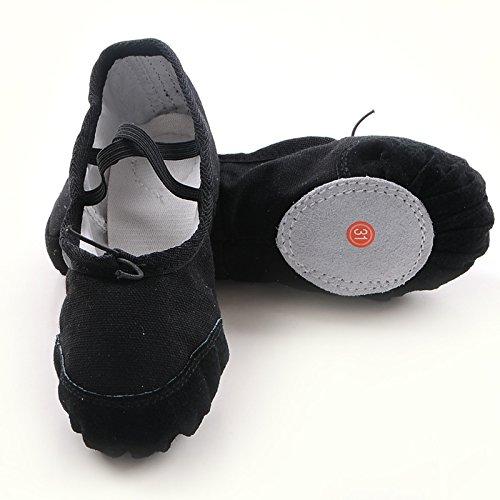 Wuyulunbi @ Kinder Dance Schuhe Kungfu Schuhe Ballett Schuhe, 25 internen Länge [16 cm], Weiß