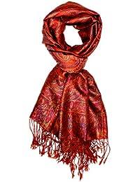 LORENZO CANA - Echarpe -  - Imprimé cachemire Homme Rouge Orange