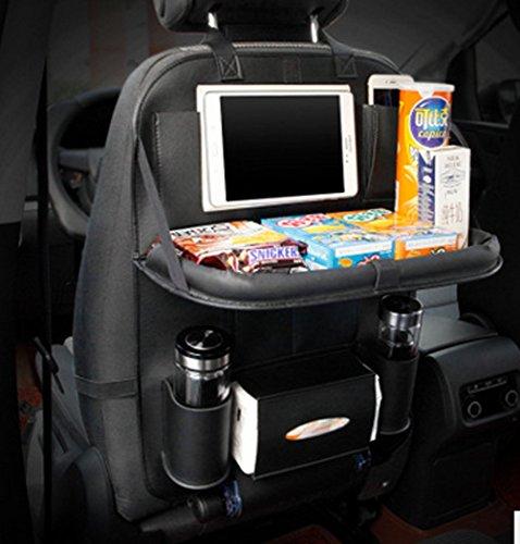 MAGIKE Organizer Auto Halterung für Rücksitz für Kinder mit Standfunktion Tablet mit Teppich schwarz