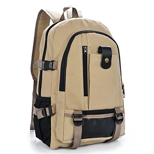 Imagen de magideal bolsa de viaje bolso de almacenamiento  de lona con cremallera  ocasional para deportivos de al aire libre senderismo  caqui