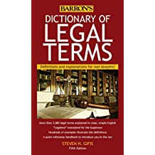 Dictionary of Legal Terms:Definitions and Explanations for Non-Lawyers. 5th edition