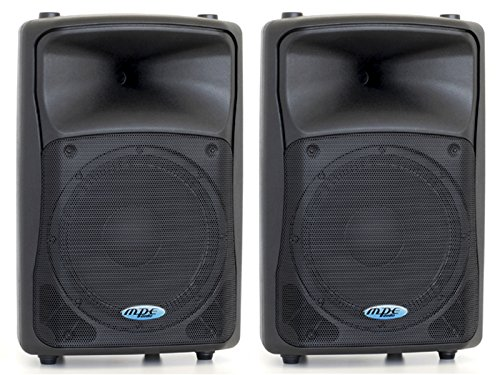 MPE Coppia casse attive bi amplificate professionali made in italy 700 watt rms woofer 12' 130db spl max Set base Level 612