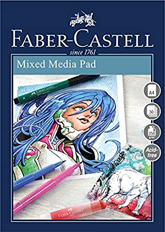 Faber-Castell Creative Studio Mixed Media Pad, A4 250 gsm Pad