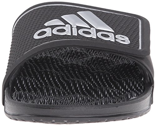 Adidas Performance Adissage 2.0 Logo Sandale, schwarz / metallic silber / schwarz, 5 M Us Black/Metallic Silver/Black