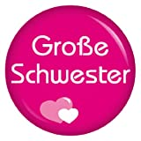 Kiwikatze® Familie - große Schwester - 37mm Button Pin Ansteckbutton als Geschenk oder Mitbringsel für die lieben Verwandten