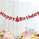 Happy Birthday Deko Banner Party Dekorationen Girlande rot