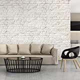 decomonkey | Fototapete Steinwand Steine 400x280 cm XXL | Design Tapete | Fototapeten | Tapeten | Wandtapete | moderne Wanddeko | Wand Dekoration Schlafzimmer Wohnzimmer Ziegel