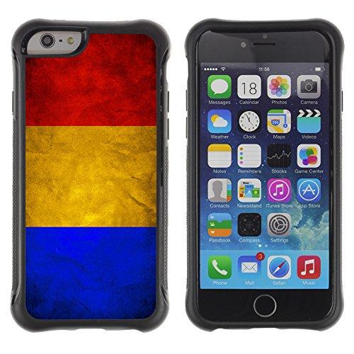 Graphic4You Vintage Uralt Flagge Von Griechenland Griechisch Design Harte Hülle Case Tasche Schutzhülle für Apple iPhone 6 Drapeau Roumain Roumanie