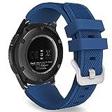 MoKo Gear S3 Frontier/Classic Watch Correa - Reemplazo Suave Silicona Sport Strap Band - Índigo
