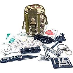 Felbridge Green Kit de Survie d'urgence et Multi Outils | Molle Survival Kit v1.0 Camo
