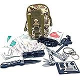 Felbridge Green Außen Notfall Survival Kit mit Multitool Zangen Set und Paracord Armbänd Für Camping, Bushcraft, Wandern, Jagd und Ihr Outdoor Abenteuer (Molle Survival Kit 2.0)