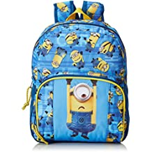 Minions Mochila Infantil Adaptable a Carro, Color Azul/Amarillo