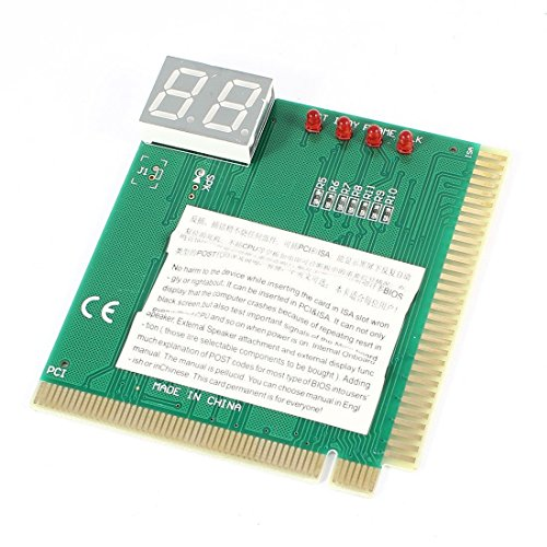Buyyart New High Quality 2-Digit PC Motherboard Diagnostic Post Card PCI ISA Analyzer Tester With User Manual  available at amazon for Rs.299