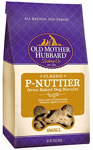 Artikelbild: Old Mother Hubbard Classic Crunchy Natural Dog Treats, P-Nuttier Small Biscuits, 20-Ounce Bag by