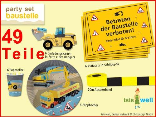 t * Baustelle / Bauarbeiter * für Kinderparty // Bauarbeiter Bagger Baumeister Kindergeburtstag Geburtstag Party Jungs Bau Bob ()