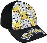 Pokémon 2200-2394 Gorra, Algodón, Niño (Negro)