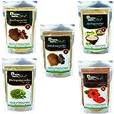 Online Quality Store Amla Reetha Shikakai, Bhringraj and Hibiscus Powder, 200g, Multicolor