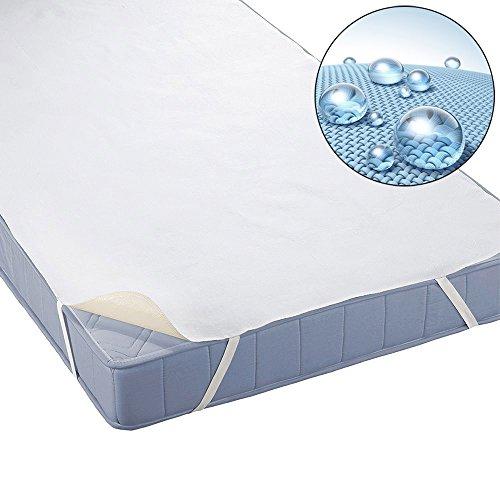 Beautissu coprimaterasso impermeabile matrimoniale beautect 160x200cm - protezione in cotone salvamaterasso per letti
