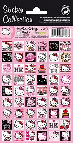 54 Hello Kitty Sticker, Aufkleber Kollektion