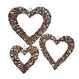 Best Heart To Heart Garden Decors - iBaste 3Pcs Heart-Shaped Home Hanging Decor Garden Decoration Review