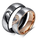 #10: Magic Stones Specially Engraved Love Couple Ring For He and She Best Valentine Gift Size 8